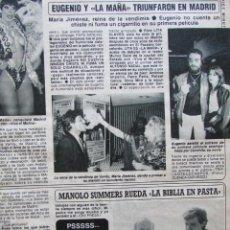 Coleccionismo de Revista Diez Minutos: RECORTE REVISTA DIEZ MINUTOS Nº 1682 1983 EUGENIO Y LA MAÑA. Lote 206999525