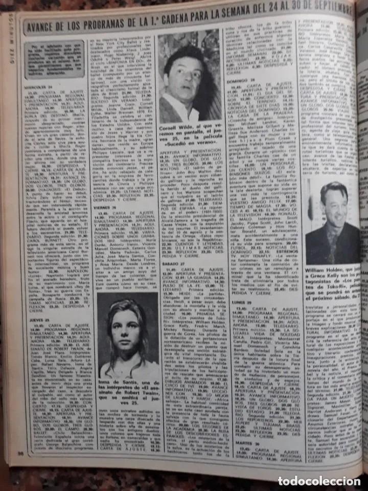 RECORTE REVISTA -- INMA DE SANTIS - WILLIAM HOLDEN - CORNELL WILDE --- DIEZ MINUTOS 29 SEP 1975 (Coleccionismo - Revistas y Periódicos Modernos (a partir de 1.940) - Revista Diez Minutos)