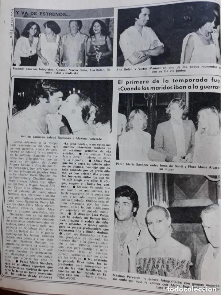 RECORTE REVISTA -- INMA DE SANTIS ANA BELEN VICTOR MANUEL NADIUSKA VICTOR VALVERDE - DIEZ MINUTOS (Coleccionismo - Revistas y Periódicos Modernos (a partir de 1.940) - Revista Diez Minutos)