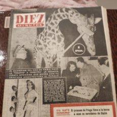 Coleccionismo de Revista Diez Minutos: REVISTA DIEZ MINUTOS AÑO 1952 N.67. Lote 207443510