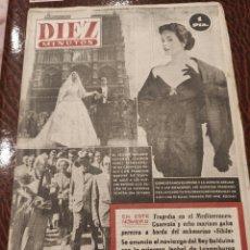 Coleccionismo de Revista Diez Minutos: REVISTA DIEZ MINUTOS AÑO 1952 NUM.58. Lote 207443928