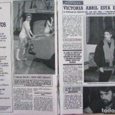 Collectionnisme de Magazine Diez Minutos: RECORTE REVISTA DIEZ MINUTOS Nº 1930 1988 VICTORIA ABRIL 3 PGS. Lote 207518733