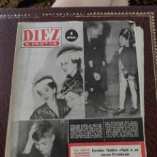 Coleccionismo de Revista Diez Minutos: REVISTA DIEZ MINUTOS N.63. Lote 208182342