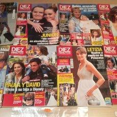 Coleccionismo de Revista Diez Minutos: LOTE DE REVISTAS DÍEZ MINUTOS. Lote 208248007