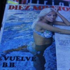 Coleccionismo de Revista Diez Minutos: SIDNE ROME SALVADOR DALI MASSIEL SOLEDAD SEVILLA MARISA MELL JANE BIRKIN 1970 DIEZ MINUTOS Nº 990. Lote 208887630
