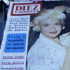 Coleccionismo de Revista Diez Minutos: JAYNE MANSFIELD SALVADOR DALI FRANÇOISE HARDY VIVIEN LEIGH TINA AUMONT FRANÇOISE DORLEAC DIEZ MINUTO. Lote 208939442