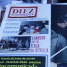 Coleccionismo de Revista Diez Minutos: FAMILIA REAL GRIEGA ANTOINE MARISOL ROCIO DURCAL JAQUES DUTRONC 1967 DIEZ MINUTOS Nº 818. Lote 208967436
