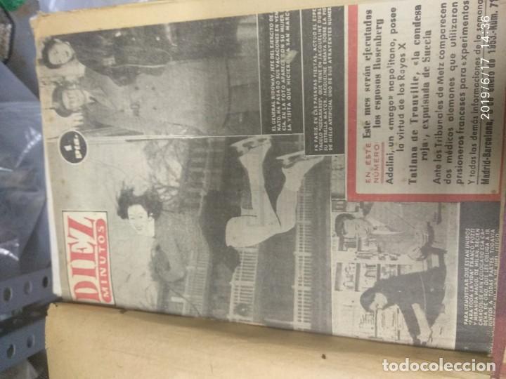 Coleccionismo de Revista Diez Minutos: ANUARIO DE LA REVISTA DIEZ MINUTOS 1953, VALIA 1ptas Tapa suelta por el canto, la tapa de atrás est - Foto 3 - 212252222
