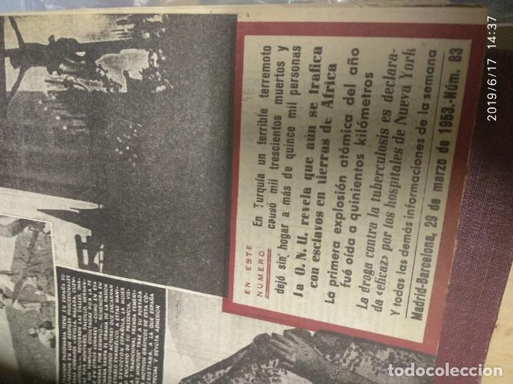 Coleccionismo de Revista Diez Minutos: ANUARIO DE LA REVISTA DIEZ MINUTOS 1953, VALIA 1ptas Tapa suelta por el canto, la tapa de atrás est - Foto 6 - 212252222