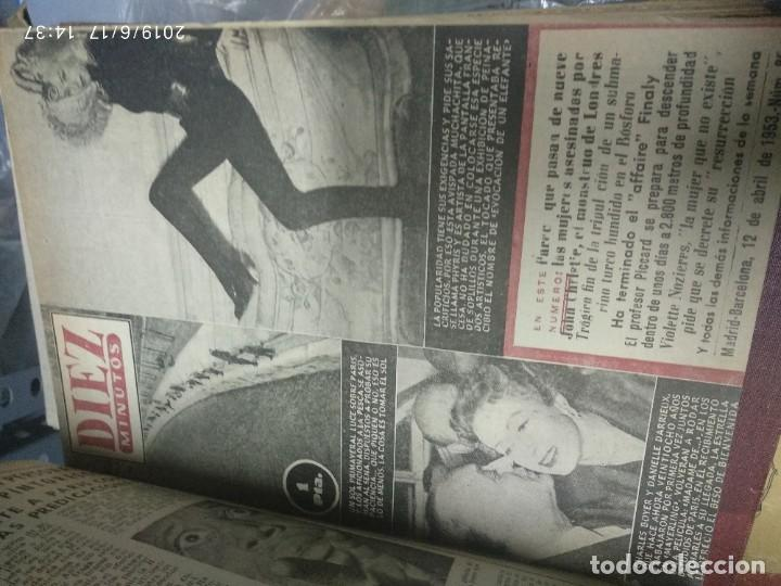Coleccionismo de Revista Diez Minutos: ANUARIO DE LA REVISTA DIEZ MINUTOS 1953, VALIA 1ptas Tapa suelta por el canto, la tapa de atrás est - Foto 9 - 212252222