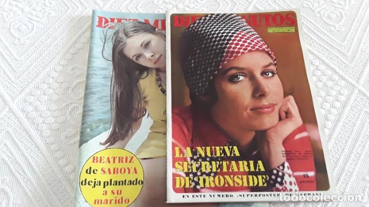 REVISTAS DIEZ MINUTOS, 1972 Y 1974 (Coleccionismo - Revistas y Periódicos Modernos (a partir de 1.940) - Revista Diez Minutos)