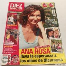 Coleccionismo de Revista Diez Minutos: DIEZ MINUTOS , ANA ROSA LLEVA LA ESPERANZA A LOS NIÑOS DE NICARAGUA , ORTEGA CANO HABLA DE SU HERENC. Lote 212923611