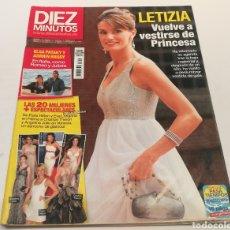 Coleccionismo de Revista Diez Minutos: DIEZ MINUTOS , LETIZIA VUELVE A VESTIRSE DE PRINCESA, ELDA PATAKI Y ADRIEN BRODY. Lote 212923861