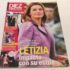 Coleccionismo de Revista Diez Minutos: DIEZ MINUTOS , LETIZIA IMPACTA CO SU ESTILO , BELÉN ESTEBAN SIN FRAN. Lote 212924357