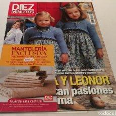 Coleccionismo de Revista Diez Minutos: DIEZ MINUTOS , LEONOR Y SOFÍA LEVANTAN PASIONES , ELSA PATAKY SE REFUGIA EN SU TRABAJO. Lote 212935587