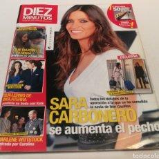 Coleccionismo de Revista Diez Minutos: DIEZ MINUTOS , SARA CARBONERO SE AUMENTA EL PECHO , DANI MARTÍN Y SU NOVIA. Lote 212935785