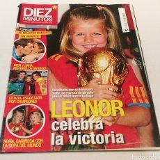 Coleccionismo de Revista Diez Minutos: DIEZ MINUTOS , LEONOR CELEBRA LA VICTORIA. Lote 212942482