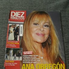 Coleccionismo de Revista Diez Minutos: REVISTA DIEZ MINUTOS , 28 DE OCTUBRE ,2009 , Nº 3036 - ANA OBREGON PIDE PERDON. Lote 212950140