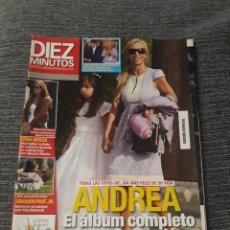 Coleccionismo de Revista Diez Minutos: REVISTA DIEZ MINUTOS , 27 DE MAYO ,2009 , Nº 3014 - ANDREA - EL ÁLBUM COMPLETO DE SU COMUNIÓN.. Lote 212950261