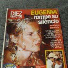 Coleccionismo de Revista Diez Minutos: REVISTA DIEZ MINUTOS - 3 SEPTIEMBRE 2004 - EUGENIA ROMPE SU SILENCIO. Lote 212950331