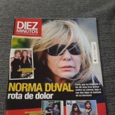 Coleccionismo de Revista Diez Minutos: REVISTA DIEZ MINUTOS , 10 DE NOVIEMBRE ,2010 , Nº 3090 - NORMA DUVAL - ROTA DE DOLOR. Lote 212950418