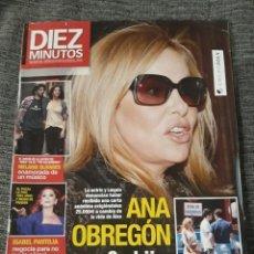 Coleccionismo de Revista Diez Minutos: DIEZ MINUTOS 19 DE MARZO 2010. NUM. 3065 - ANA OBREGÓN - SU HIJO, AMENAZADO DE MUERTE. Lote 213039040