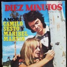Coleccionismo de Revista Diez Minutos: REVISTA DIEZ MINUTOS 1064 CAMILO SESTO MARIBEL MARTIN BETINA MARISOL JOAN BAEZ JEANETTE LOLA FLORES. Lote 213957242