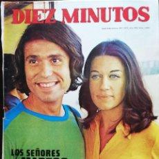Coleccionismo de Revista Diez Minutos: REVISTA DIEZ MINUTOS 1092 BODA RAPHAEL TERESA RABAL FESTIVAL DE BENIDORM SHELLEY WINTERS GRETA GARBO. Lote 213959956