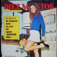 Coleccionismo de Revista Diez Minutos: REVISTA DIEZ MINUTOS Nº 1105 SILVANA SALDOVAL NINO BRAVO ALAIN DELON MARIBEL MARTÍN ALBERTO CORTEZ. Lote 213961566