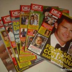 Coleccionismo de Revista Diez Minutos: LOTE DE 7 REVISTA DIEZ MINUTOS 2003-05. LEER Y VER FOTOS. Lote 215084606