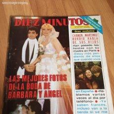 Coleccionismo de Revista Diez Minutos: DIEZ MINUTOS 1483 - MIGUEL BOSÉ - BARBARA REY. Lote 215101787