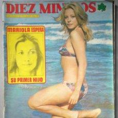 Coleccionismo de Revista Diez Minutos: REVISTA DIEZ MINUTOS , JULIO 1974 , RAPHAEL , BRIGITTE BARDOT , POSTER FABIO TESTI M LUIS SAN JOSE. Lote 215932903