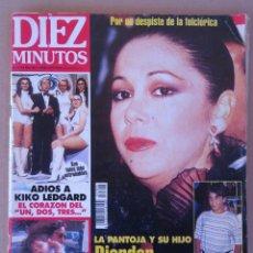 Coleccionismo de Revista Diez Minutos: DIEZ MINUTOS , NOV.1995 , ADIOS A KIKO LEGARD , PANTOJA , ENTIERRO DE JERO CHICHOS.. Lote 216424423
