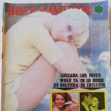 Collectionnisme de Magazine Diez Minutos: REVISTA DIEZ MINUTOS 1249 JANE BIRKIN CRISTINA ONASSIS COCCINELLE NADIUSKA NORMA DUVAL JOHN LENNON. Lote 217595636