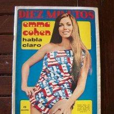 Coleccionismo de Revista Diez Minutos: DIEZ MINUTOS / VIRNA LISI, NINO BRAVO, MARY PAZ PONDAL, NICOLA DI BARI, LOS MISMOS, VICENTE PARRA. Lote 218025921