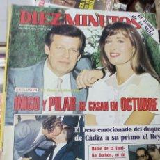 Coleccionismo de Revista Diez Minutos: REVISTA DÍEZ MINUTOS AÑO 1984 EL SUMARIO FOTOGRAFIADO. Lote 218092186