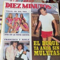 Coleccionismo de Revista Diez Minutos: REVISTA DÍEZ MINUTOS AÑO 1984 EL SUMARIO FOTOGRAFIADO. Lote 218092261