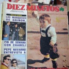 Coleccionismo de Revista Diez Minutos: REVISTA DÍEZ MINUTOS AÑO 1984 EL SUMARIO FOTOGRAFIADO. Lote 218092497