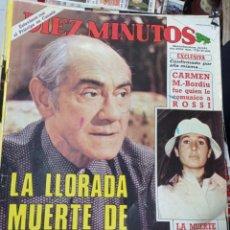 Coleccionismo de Revista Diez Minutos: REVISTA DÍEZ MINUTOS AÑO 1984 EL SUMARIO FOTOGRAFIADO. Lote 218092542