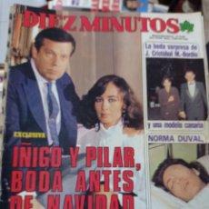 Coleccionismo de Revista Diez Minutos: REVISTA DÍEZ MINUTOS AÑO 1984 EL SUMARIO FOTOGRAFIADO. Lote 218093005