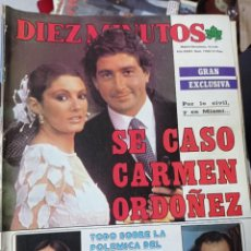 Coleccionismo de Revista Diez Minutos: REVISTA DÍEZ MINUTOS AÑO 1984 EL SUMARIO FOTOGRAFIADO. Lote 218093042