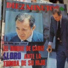 Coleccionismo de Revista Diez Minutos: REVISTA DÍEZ MINUTOS AÑO 1984 EL SUMARIO FOTOGRAFIADO. Lote 218093115
