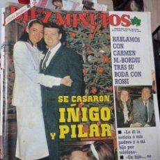Coleccionismo de Revista Diez Minutos: REVISTA DÍEZ MINUTOS AÑO 1984 EL SUMARIO FOTOGRAFIADO. Lote 218093330