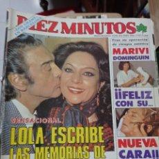 Coleccionismo de Revista Diez Minutos: REVISTA DÍEZ MINUTOS AÑO 1984 EL SUMARIO FOTOGRAFIADO. Lote 218093792