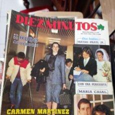 Coleccionismo de Revista Diez Minutos: REVISTA DÍEZ MINUTOS AÑO 1984 EL SUMARIO FOTOGRAFIADO. Lote 218093828