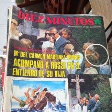 Coleccionismo de Revista Diez Minutos: REVISTA DÍEZ MINUTOS AÑO 1984 EL SUMARIO FOTOGRAFIADO. Lote 218093888