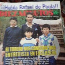 Collectionnisme de Magazine Diez Minutos: REVISTA DÍEZ MINUTOS AÑO 1985 EL SUMARIO FOTOGRAFIADO. Lote 218687576