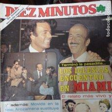 Coleccionismo de Revista Diez Minutos: REVISTA DÍEZ MINUTOS AÑO 1982 EL SUMARIO FOTOGRAFIADO. Lote 218734693