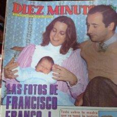 Coleccionismo de Revista Diez Minutos: REVISTA DÍEZ MINUTOS AÑO 1982 EL SUMARIO FOTOGRAFIADO. Lote 218734803