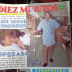 Coleccionismo de Revista Diez Minutos: REVISTA DÍEZ MINUTOS AÑO 1982 EL SUMARIO FOTOGRAFIADO. Lote 218735098